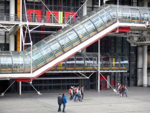 Beaubourg district - Façade of the Georges Pompidou Centre