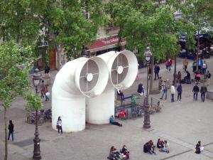 Beaubourg district - Air vents of the piazza in front of the Pompidou Centre