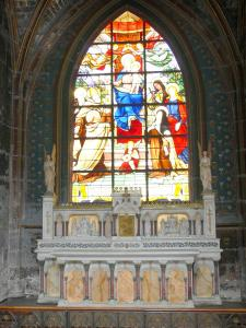 Beaubourg district - Inside the Saint-Merri church: stained glass