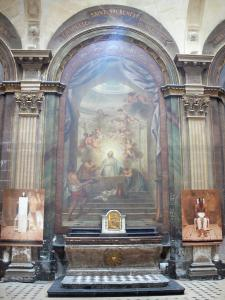 Beaubourg district - Inside the Saint-Merri church: painting