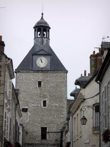 Beaugency - Clock tower and houses of the old town