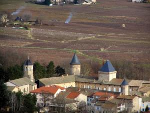 Beaujolais vineyards - Village of Saint-Lager and vineyards
