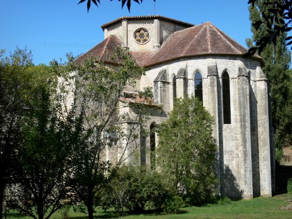 Beaulieu-en-Rouergue abbey - Former Cistercian abbey (contemporary art center): head of the abbey church of Gothic style
