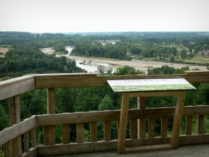 Bec d'Allier panoramic view - Marzy Belvedere overlooking the natural site of the confluence of Rivers Loire and Allier