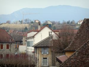 Belley - View of the rooftops of the old town
