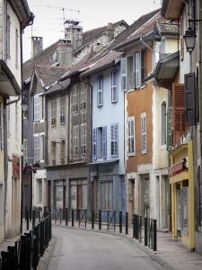 Belley - Streets and facades of houses in the old town