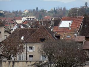 Belley - View over the rooftops of the old town