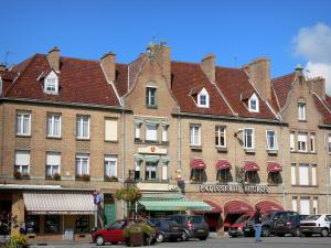 Bergues - Houses and shops of the fortified city