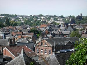Bernay - View over the rooftops of the town
