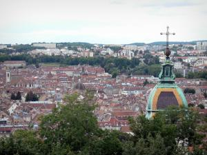 Besançon - View of the bell tower of the Saint-Jean cathedral and roofs of the old town