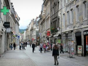 Besançon - Houses and shops of the Granges street