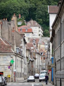 Besançon - Street and houses of the old town