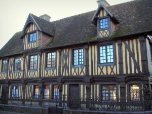 Beuvron-en-Auge - Old timber-framed manor house in the Pays d'Auge area