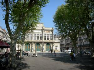 Béziers - Paul-Riquet alley: promenade lined with plane trees and theatre