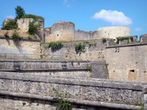 Blaye citadel - Remains of the Rudel castle and fortifications of the citadel