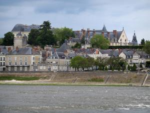Blois - Château, houses of the city and the Loire River