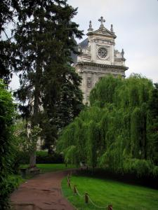Blois - Saint-Vincent church and garden featuring trees