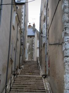 Blois - Stairway lined with houses