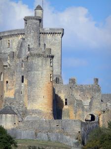 Bonaguil castle - Keep and towers of the fortress (fortified castle)
