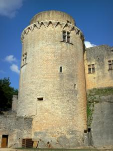 Bonaguil castle - Main tower of the fortress (fortified castle)
