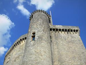 Bonaguil castle - Kaap of the fortress (fortified castle)