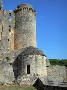 Bonaguil castle - Gunpowder store and tower of the fortress (fortified castle)