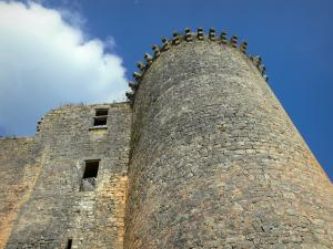 Bonaguil castle - Tower of the fortress (fortified castle)