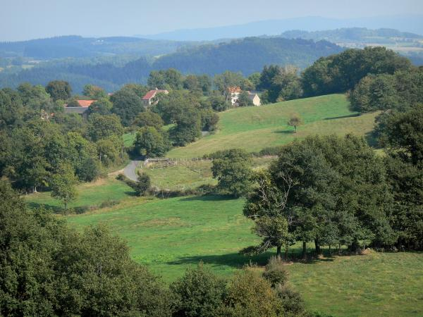 Bourbonnais mountains - Meadows, trees, houses and forests