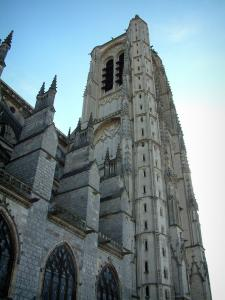 Bourges - Tower of the Saint-Etienne cathedral (Gothic architecture)