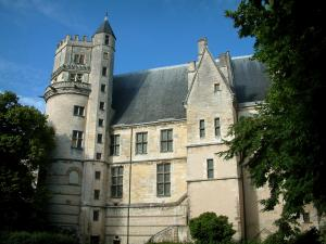Bourges - Jacques-Coeur's palace ( Gothic civil architecture) and trees