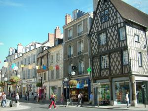 Bourges - Shopping street with shops