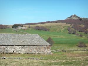 Bourlatier farm - Stone barn with a slate roof of the Bourlatier memorial farm and its surrounding landscape