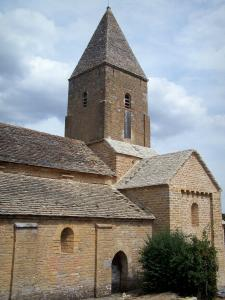 Brancion - Saint-Pierre Romanesque church and its bell tower