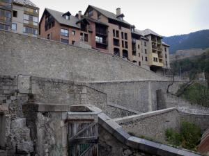 Briançon - Upper town (Vauban citadel, fortified town built by Vauban): ramparts and buildings