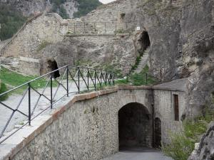 Briançon - Upper town (Vauban citadel, fortified town built by Vauban): fortification of the castle and arcaded passage