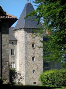 Brie castle - Facade of the fortified house, in the Périgord-Limousin Regional Nature Park