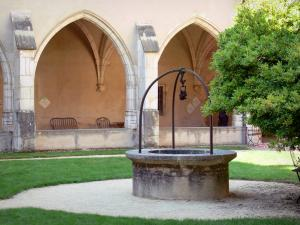 Brou Royal Monastery - Well of the first cloister; in the town of Bourg-en-Bresse