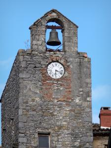 Bruniquel - Bell and clock of the belfry