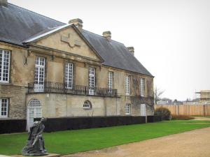 Caen - The Governors lodge home to the Normandy museum in the surrounding walls of the castle