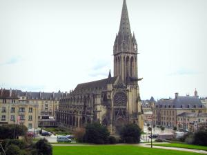 Caen - Saint-Pierre church and buildings in the city