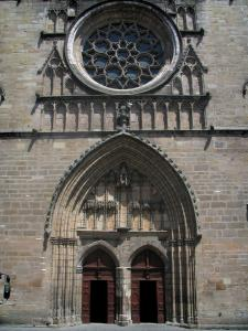 Cahors - Portal of the Saint-Etienne cathedral, in the Quercy