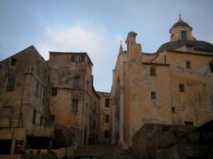 Calvi - Saint-Jean-Baptiste cathedral and houses of the citadel