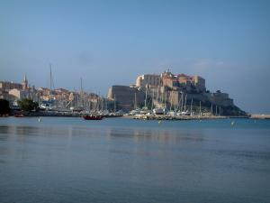 Calvi - Sea, city bass, marina and citadel