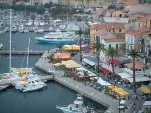 Calvi - Marina, boats, sailboats, quaysides, café terraces and restaurants, houses