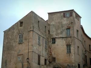 Calvi - The old houses of the citadel