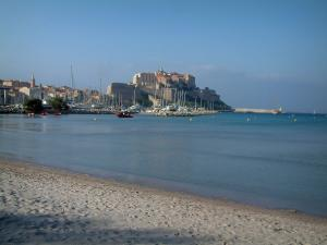 Calvi - Sandy beach, sea, marina and citadel