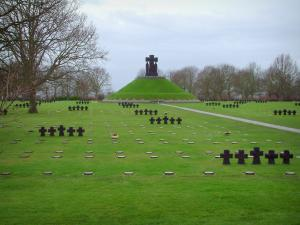 La Cambe German cemetery - Tombs of the German military cemetery