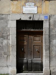 Castellane - Entrance to the Verdon Arts and Popular Traditions museum, former prefecture where Napoleon lunched on 3 March 1815, National street