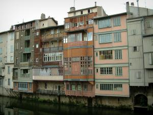 Castres - Old houses on the River Agout