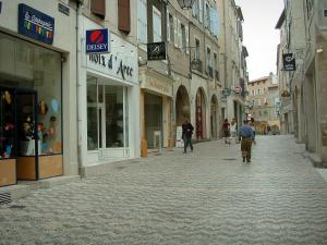 Castres - Shopping street lined with shops